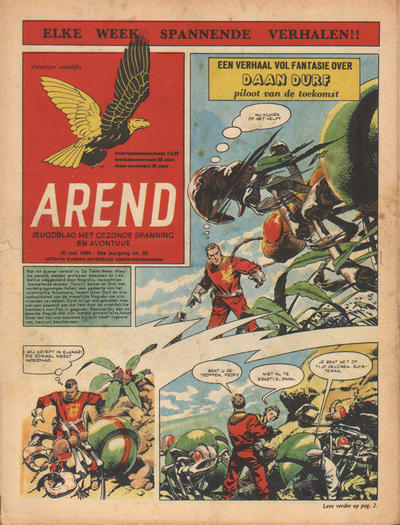 Cover for Arend (Bureau Arend, 1955 series) #Jaargang 9/35
