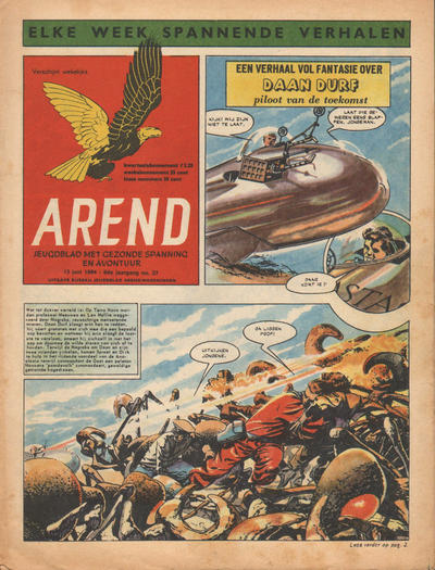 Cover for Arend (Bureau Arend, 1955 series) #Jaargang 9/37