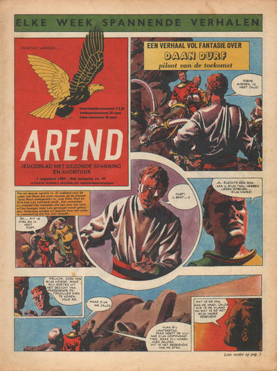 Cover for Arend (Bureau Arend, 1955 series) #Jaargang 9/44