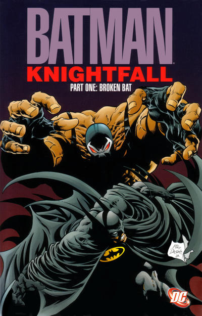 Cover for Batman: Knightfall, Part One: Broken Bat (DC, 1993 series)  [3rd print]