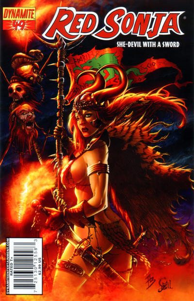 Cover for Red Sonja (Dynamite Entertainment, 2005 series) #49 [Cover A]