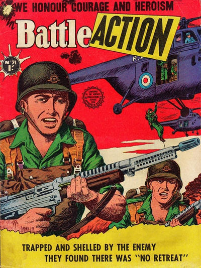 Cover for Battle Action (Horwitz, 1954 ? series) #71