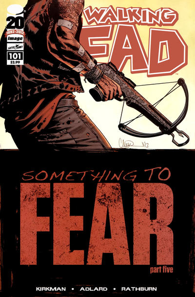 Cover for The Walking Dead (Image, 2003 series) #101 [2nd Printing Cover by Charlie Adlard]