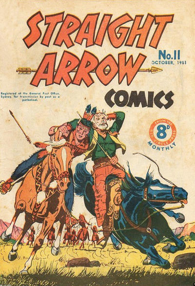 Cover for Straight Arrow Comics (Magazine Management, 1950 series) #11