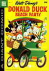 Cover for Walt Disney's Donald Duck Beach Party (Dell, 1954 series) #5 [30¢ edition]