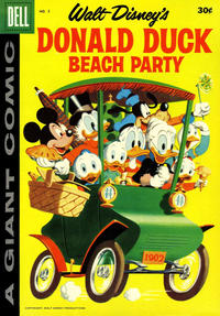 Cover Thumbnail for Walt Disney's Donald Duck Beach Party (Dell, 1954 series) #5 [30¢ edition]