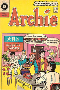 Cover Thumbnail for Archie (Editions Héritage, 1971 series) #81