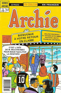 Cover Thumbnail for Archie (Editions Héritage, 1971 series) #210