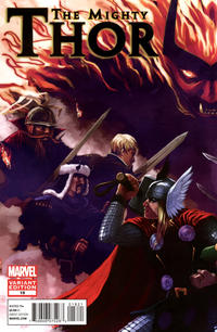 Cover Thumbnail for The Mighty Thor (Marvel, 2011 series) #18 [Variant Cover by Stephanie Hans]