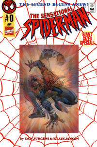 Cover Thumbnail for The Sensational Spider-Man (Marvel, 1996 series) #0 [Red Webbing Wraparound Variant Cover by Dan Jurgens]