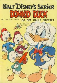 Cover Thumbnail for Walt Disney's serier (Hjemmet / Egmont, 1950 series) #7/1956