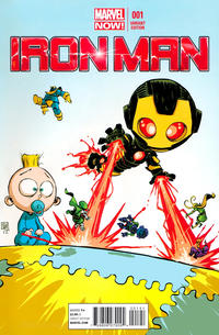 Cover Thumbnail for Iron Man (Marvel, 2013 series) #1 [Variant Cover by Skottie Young]