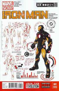 "Cover Thumbnail for Iron Man (Marvel, 2013 series) #1 [""Design"" Variant Cover by Carlo Pagulayan]"