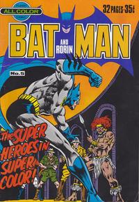 Cover Thumbnail for Batman and Robin (K. G. Murray, 1976 series) #5