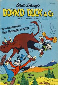 Cover Thumbnail for Donald Duck & Co (Hjemmet / Egmont, 1948 series) #31/1968