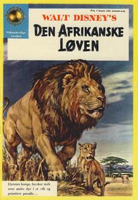 Cover Thumbnail for Walt Disney's Den afrikanske løven (Hjemmet / Egmont, 1957 series)