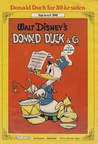 Cover Thumbnail for Donald Duck for 30 år siden (Hjemmet / Egmont, 1978 series) #4/1979