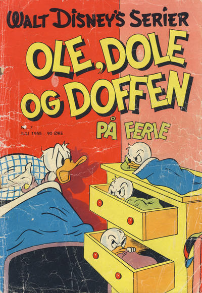Cover for Walt Disney's serier (Hjemmet / Egmont, 1950 series) #7/1955