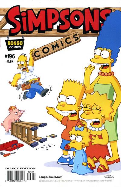 Cover for Simpsons Comics (Bongo, 1993 series) #196