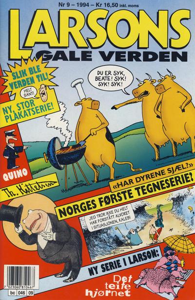 Cover for Larsons gale verden (Bladkompaniet, 1992 series) #9/1994