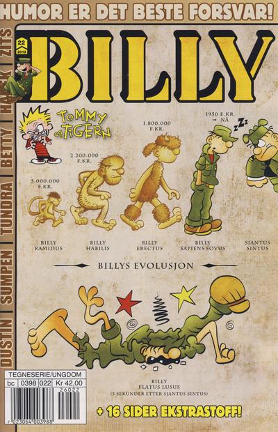 Cover for Billy (Hjemmet / Egmont, 1998 series) #22/2012