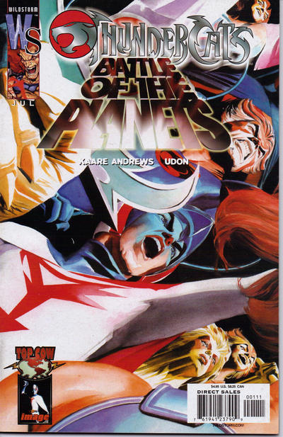 Cover for ThunderCats / Battle of the Planets (DC, 2003 series) #1 [Cover B]