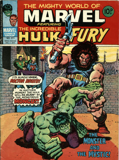 Cover for The Mighty World of Marvel (Marvel UK, 1972 series) #271