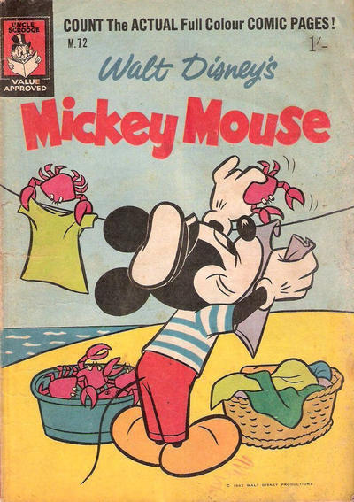 Cover for Walt Disney's Mickey Mouse (W. G. Publications; Wogan Publications, 1956 series) #72