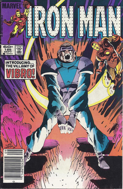 Cover for Iron Man (Marvel, 1968 series) #186 [Direct Edition]