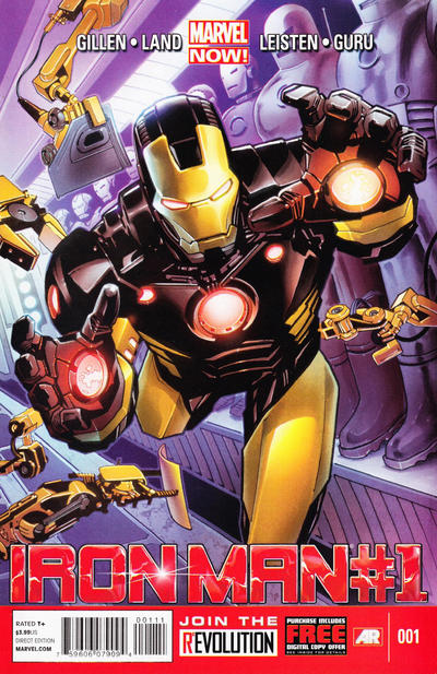 """Cover for Iron Man (Marvel, 2013 series) #1 [""""Design"""" Variant Cover by Carlo Pagulayan]"""