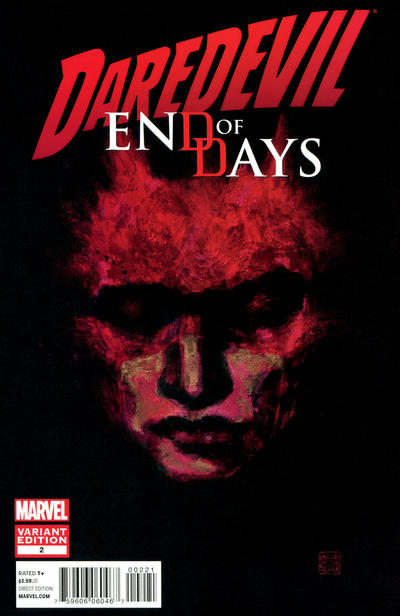 Cover for Daredevil: End of Days (Marvel, 2012 series) #2 [Variant Cover by David Mack]