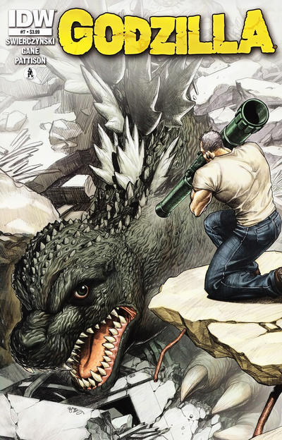 Cover for Godzilla (IDW, 2012 series) #7 [Retailer incentive]