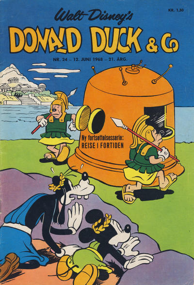 Cover for Donald Duck & Co (Hjemmet / Egmont, 1948 series) #24/1968