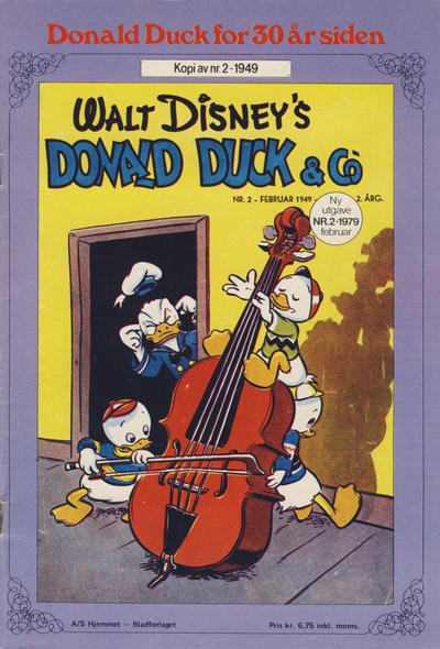Cover for Donald Duck for 30 år siden (Hjemmet / Egmont, 1978 series) #2/1979