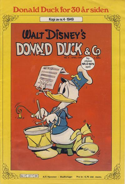 Cover for Donald Duck for 30 år siden (Hjemmet / Egmont, 1978 series) #4/1979