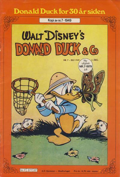 Cover for Donald Duck for 30 år siden (Hjemmet / Egmont, 1978 series) #7/1979