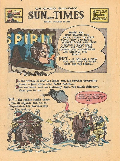 Cover for The Spirit (Register and Tribune Syndicate, 1940 series) #10/19/1947