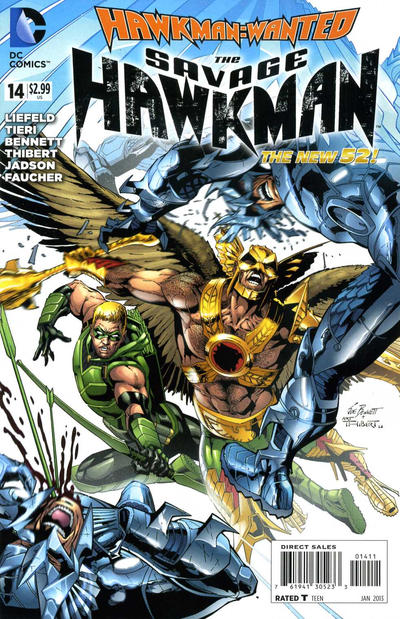 Cover for The Savage Hawkman (DC, 2011 series) #14
