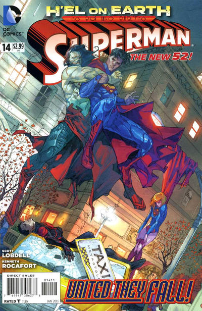 Cover for Superman (DC, 2011 series) #14 [Direct Sales]