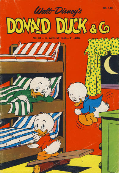Cover for Donald Duck & Co (Hjemmet / Egmont, 1948 series) #33/1968