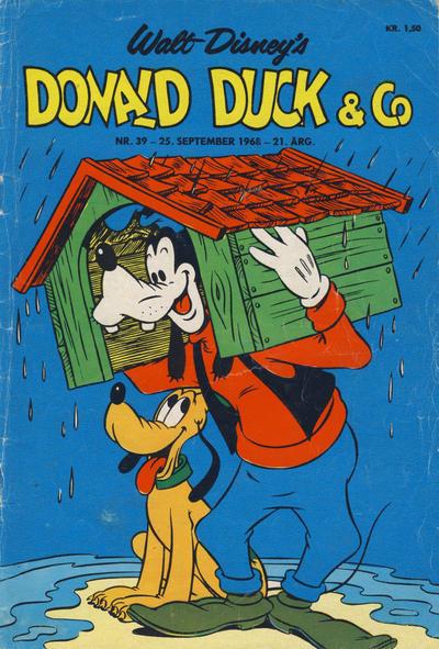 Cover for Donald Duck & Co (Hjemmet / Egmont, 1948 series) #39/1968