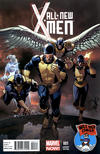 Cover for All-New X-Men (Marvel, 2013 series) #1 [Mile High Comics Variant Cover by Salvador Larroca]