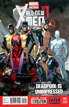 Cover for All-New X-Men (Marvel, 2013 series) #1 [Deadpool Is Unimpressed Variant Cover by Stuart Immonen]