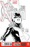 Cover for All-New X-Men (Marvel, 2013 series) #1 [Black & White Variant Cover by Joe Quesada]