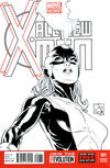 Cover for All-New X-Men (Marvel, 2013 series) #1 [Black & White Variant Cover by Joe Quesada]