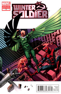 Cover Thumbnail for Winter Soldier (Marvel, 2012 series) #6 [Amazing Spider-Man In Motion Variant Cover by Kalman Andrasofszky]
