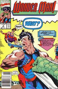 Cover Thumbnail for Wonder Man (Marvel, 1991 series) #3 [Newsstand]