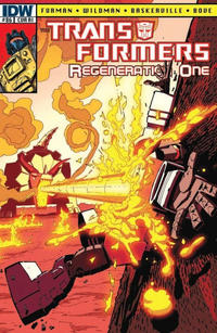Cover Thumbnail for Transformers: Regeneration One (IDW, 2012 series) #86 [Cover RI - Incentive Geoff Senior Variant]