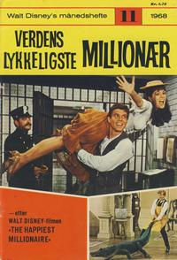 Cover Thumbnail for Walt Disney's Månedshefte (Hjemmet / Egmont, 1967 series) #11/1968