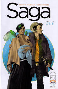 Cover Thumbnail for Saga (Image, 2012 series) #1 [2nd Printing]